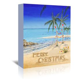 image-Coastal Christmas' by Advocate Art Vintage Advertisement Wrapped on Canvas Americanflat