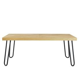 image-Ahmad Coffee Table Williston Forge Size: H45 x L115 x W60cm, Colour (Table Top): Oak