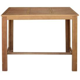image-Curl Solid Acacia Wood Pub Table Natur Pur Tabletop Size: W120 x D60cm