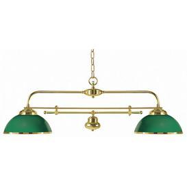image-Freeport 1-Light Kitchen Island Pendant Moretti Luce Frame colour: Brass, polished, Shade Colour: Green