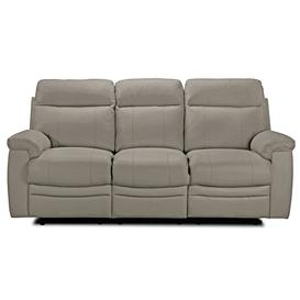 image-Argos Home Paolo 3 Seater Manual Recliner Sofa - Grey