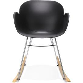 image-Acciano Black Rocking Chair