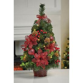 image-Pre-lit Decorated Table Top Christmas Tree