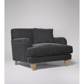 image-Swoon Chorley Armchair in Anthracite Smart Wool With Short Light Feet