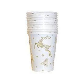 image-Christmas Paper Cup 10 Pack - Reindeer