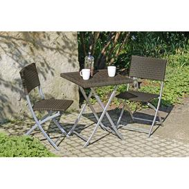 image-Norfolk 2 Seater Bistro Set Sol 72 Outdoor Colour: Silver/Brown