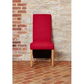 image-Ellender Full Back Upholstered Dining Chair Brayden Studio Upholstery Colour: Berry