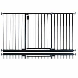 image-Bella Vista Pressure Mounted Pet Gate Archie & Oscar Colour: Black, Size: 140-146cm
