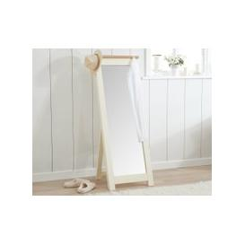 image-Somerset Oak and Cream Cheval Mirror