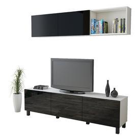 "image-Kesterson Entertainment Unit for TVs up to 70\"" Brayden Studio Colour: Black/White"