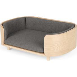 image-Kyali Dog Sofa, S/M, Natural Ash & Grey