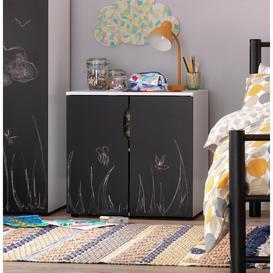 image-Argos Home Pod 2 Door Cabinet - Blackboard