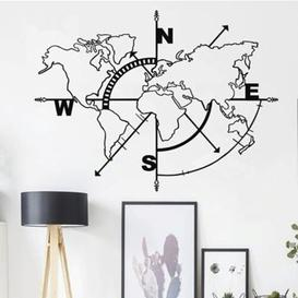 image-Metal World Map Wall Décor