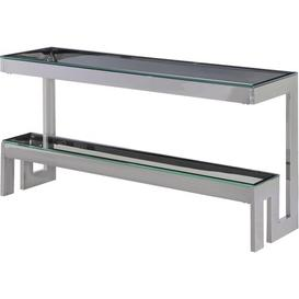 image-Rosenthal Console Table Canora Grey Colour (Table Base): Silver