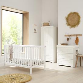image-Malmo Cot Bed 4-Piece Nursery Furniture Set Tutti Bambini Colour: White