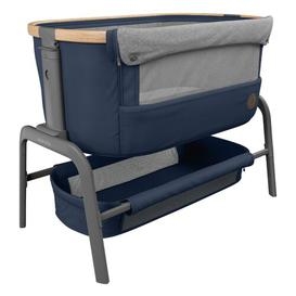 image-Iora 2-in-1 Rocking Bedside Crib with Mattress Maxi-Cosi Home Equipment Colour: Blue