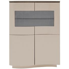 image-Vida Living Lazzaro Cappuccino Matt Display Cabinet with LED