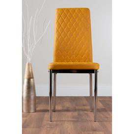 image-Townley Dining Set with 4 Chairs Metro Lane Colour (Chair): Mustard Yellow