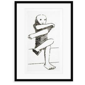 image-'Seated Child' Drawing Print East Urban Home Format: Framed Paper, Size: 100 cm H x 70 cm W x 2.3 cm D