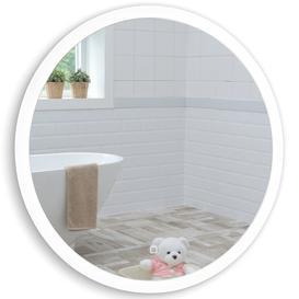 image-LED Illuminated Bathroom Wall Mirror Warm/Cold LED's LED43 Size-60HX60WX5.5Dcm