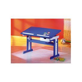 image-Paco Childrens Computer Desk In Blue Wood