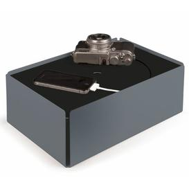image-Sheet Steel/Felt Cable Box Symple Stuff Colour: Squirrel grey/Black