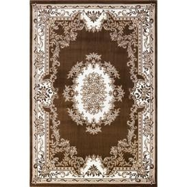 image-Epherus Traditional Brown Area Rug Rosalind Wheeler
