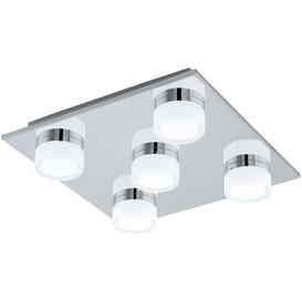 image-Eglo 94654 Romendo 4 Light Bathroom Flush Ceiling Light In Chrome