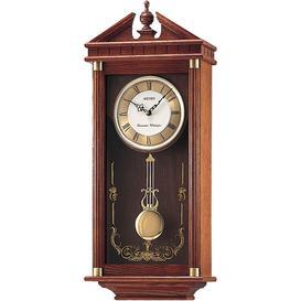 image-Seiko Oak Dual Chime Pendulum Wall Clock