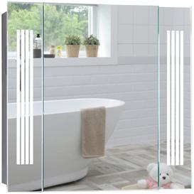 image-Bluetooth LED Illuminated Bathroom Mirror Cabinet CABM29 Pegasus Size - 60Hx65Wx13.5Dcm