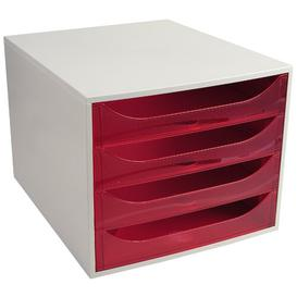 image-Mcdonough Desk Organiser Symple Stuff Colour: Grey/Raspberry