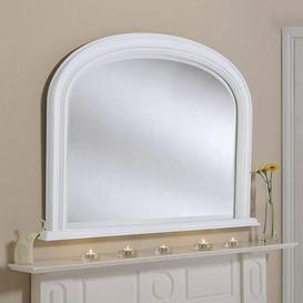 image-Yearn Beaded Mantle Mirror 112x79cm White White