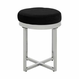 image-Woollard Dressing Table Stool Wade Logan Colour (Seat): Black