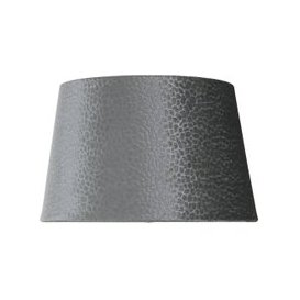 image-9inch Grey Faux Suede Snakeskin Shade (Dual Fitting)
