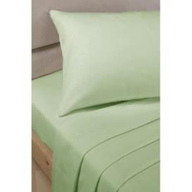 image-Roxie 180 Thread Count Fitted Valance Sheet Zipcode Design Colour: Soft Green, Size: Double (4'6)
