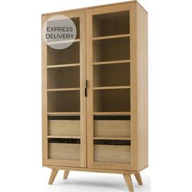 image-Aveiro Display Cabinet, Oak & Glass