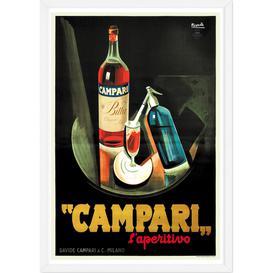 image-Campari Vintage Drinks Framed Wall Art Print A2, Multi