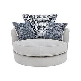 image-Bloom Fabric Swivel Chair
