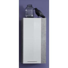 image-Ra├║l Wall Shelf Ebern Designs Colour: White high gloss/Stone melamine