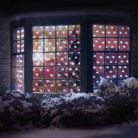 image-180 LED White Outdoor Net Christmas Lights Mains 10M