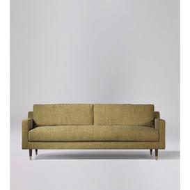 image-Swoon Rieti Three-Seater Sofa in Safari House Weave With Dark Feet