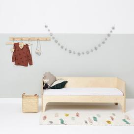 image-Rice Print Fitted Cot Sheet The Little Green Sheep Colour: White