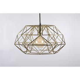 image-Jana 1-Light Geometric Pendant Mercury Row Shade Colour: Gold/Black