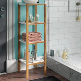 image-Raquel 33 x 110cm Bathroom Shelf House of Hampton