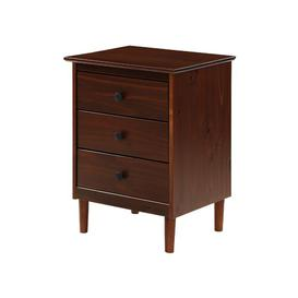 image-Maximillian 3 Drawer Bedside Table Langely Street Colour: Walnut