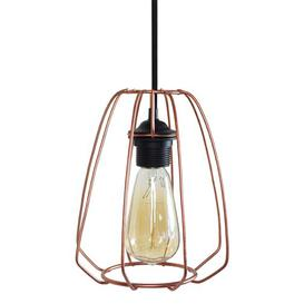 image-Kinard 1-Light Mini Pendant Mercury Row Finish: Black, Shade Colour: Copper