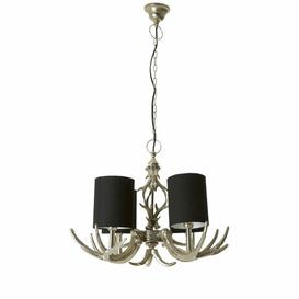 image-Degraff 4-Light Shaded Chandelier Union Rustic