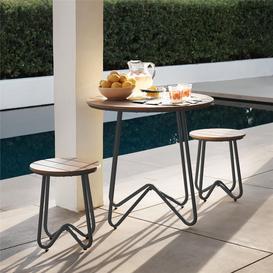 image-Cosco Outdoor Living Novogratz Bobbi Charcoal Grey 3Pc Bistro Set