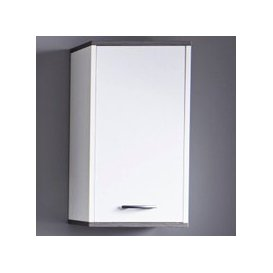 image-Matis Wall Mounted Bathroom Cabinet In White And Smoky Silver