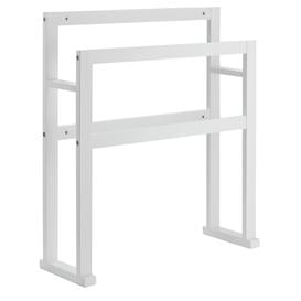 image-Argos Home 4 Rail Wooden Freestanding Towel Stand - White